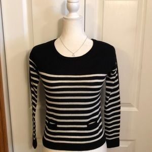 The Limited Black and White Stripe Sweater